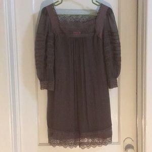 Yoana Baraschi Silk Gray Mini Dress / Tunic Sz 4